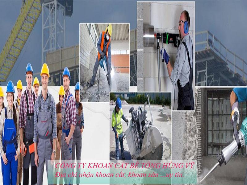 Công ty khoan cắt bê tông Hùng Vỹ chuyên nghiệp uy tín
