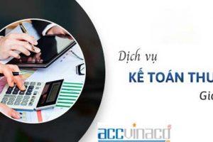 Dịch vụ kế toán thuế trọn gói bởi ACC Việt Nam giá rẻ